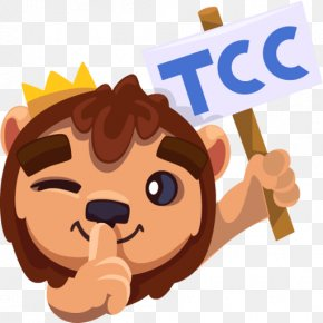 Lion - Leo The Lion Sticker Telegram King Of The Animals PNG