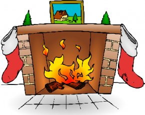 Mantle Cliparts - Santa Claus Fireplace Christmas Stocking Clip Art PNG