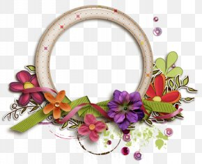 Circle Flower Frame - Yuvarlakia Grandmother's Day PNG