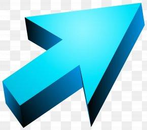Blue 3D Arrow Transparent Clip Art Image - Arrow 3D Computer Graphics Clip Art PNG