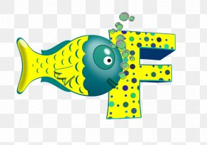 Cartoon Fish - Letter Alphabet Kids Nursery Rhymes Phonics PNG