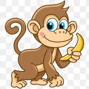 Black Monkey - Monkey Drawing Clip Art PNG