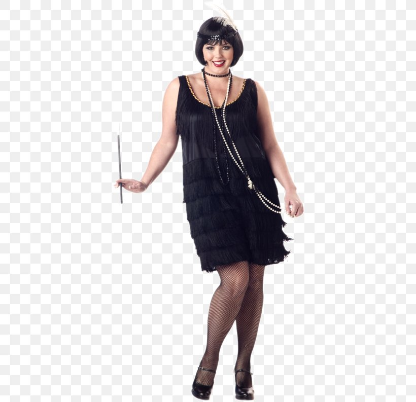 1920s Flapper Plus-size Clothing Halloween Costume, PNG ...