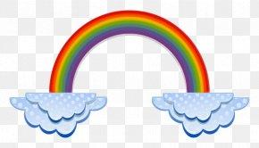 Clouds Clipart - Rainbow Cloud Color Clip Art PNG