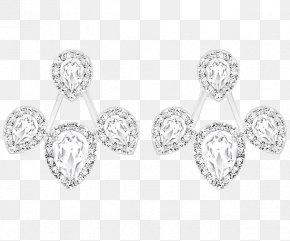 Swarovski Gemstone Jewelry Platinum Earrings - The Earring Swarovski AG Jewellery Necklace PNG