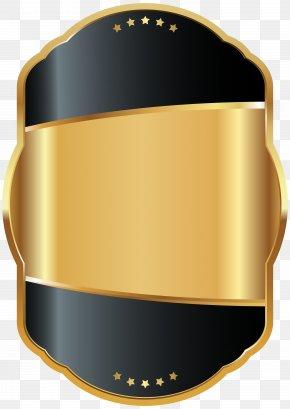 Label Template Black Gold Clip Art Image - Label Gold Clip Art PNG