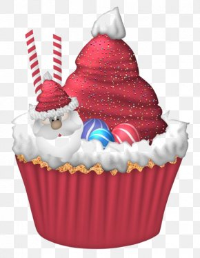 Cartoon Red Cream Cake - Cupcake Christmas Cake Birthday Cake Christmas Pudding Muffin PNG