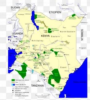 Map - Mount Kenya Map National Park Carta Geografica PNG