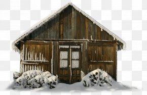 Transparent Winter Barn With Snow Clipart - Christmas Barn Stock Illustration Clip Art PNG