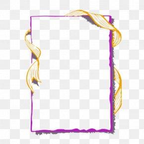 Announcement Square Box - Picture Frames Ribbon .com Blue PNG