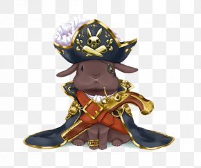 Hand-painted Rabbit Pirates Of The Caribbean - Food Rabbit Moe Illustration PNG