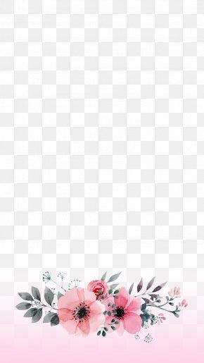 Pink Watercolor Flower - Flower Paper Floristry Garland Floral Design PNG