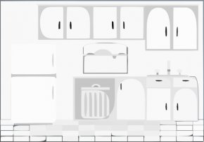 Kitchen Cabinet Cliparts - Tap Kitchen Bathroom Furniture PNG