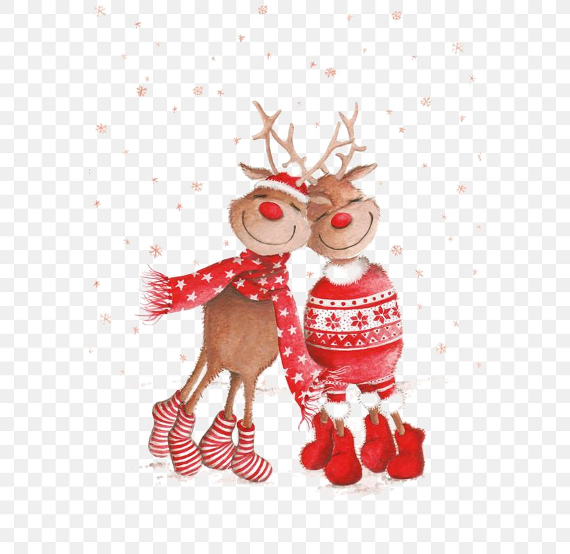 Rudolph Christmas Card New Year Wallpaper, PNG, 564x797px