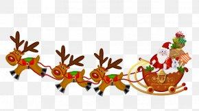 Santa Sleigh - Santa Claus Christmas New Year's Day Clip Art PNG