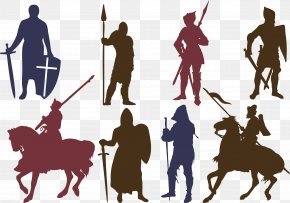 Soldier Silhouette Vector - Silhouette Knights Templar Download Icon PNG