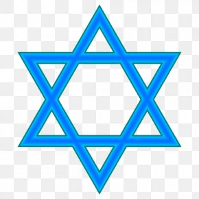 The Star Of David - Star Of David Judaism Symbol Clip Art PNG