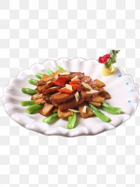 Fried Bacon Dish Away Abalone Mushrooms - Bacon Vegetarian Cuisine Tocino Dish Stir Frying PNG
