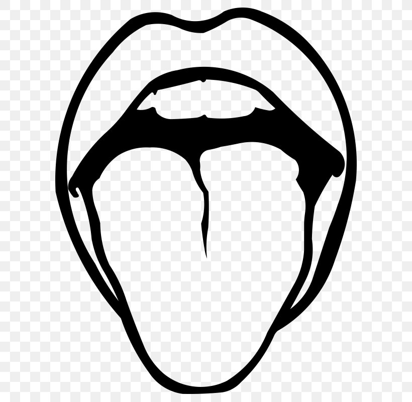 Drawing Tongue Clip Art, PNG, 800x800px, Drawing, Art, Black, Black And White, Face Download Free