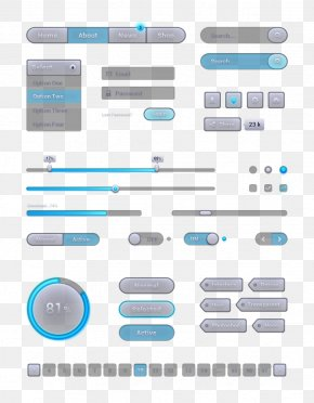 Web Design Commonly Used Button PNG