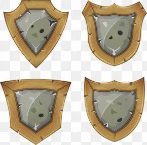 Wooden Shield - Shield Cartoon Icon PNG