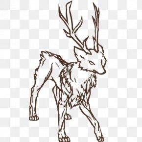 Wolf Outline - Reindeer Dog Drawing Clip Art PNG