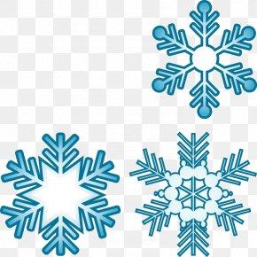 Blue Snowflakes - Royalty-free Snowflake Clip Art PNG