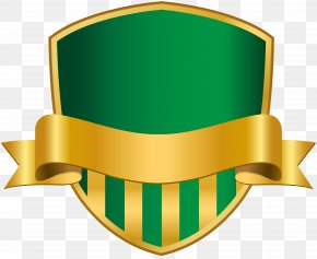 Badge With Banner Green Clip Art Image - Badge Clip Art PNG