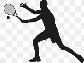 Man Playing Tennis - Tennis Ball Racket Squash PNG
