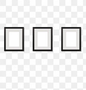Vector Black Frame - White Pattern PNG