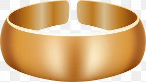 Golden Atmosphere Ring - Bangle Gold Material Ring PNG