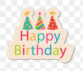 Cartoon Birthday Happy Label PNG