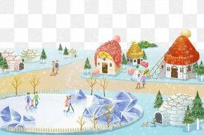 Warm Homes - Lidong Winter Christmas Illustration PNG