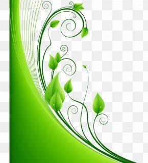 Green Leaf Pattern Vector - Green Leaf Euclidean Vector PNG