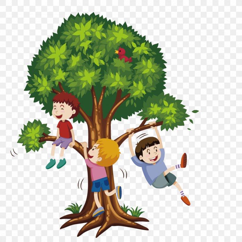 Tree Climbing Stock Photography Clip Art, PNG, 1000x1000px, Tree Climbing, Alamy, Art, Boy, Cartoon Download Free