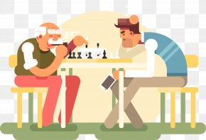 Vector Flat Board Games - Chess Piece Board Game Illustration PNG