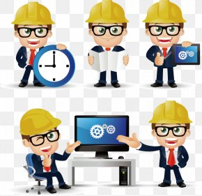 Construction Engineer Cartoons - Civil Engineering PNG