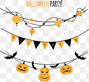 Trick Or Treat - Halloween Party Paper Convite Clip Art PNG