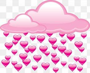 Love Text - Rain Love Heart Clip Art PNG