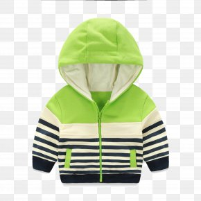 Children's Striped Hooded Jacket - Hoodie Child Jacket Infant PNG