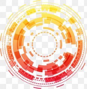 Science And Technology Circle Decorative Background - Technology Circle Science PNG