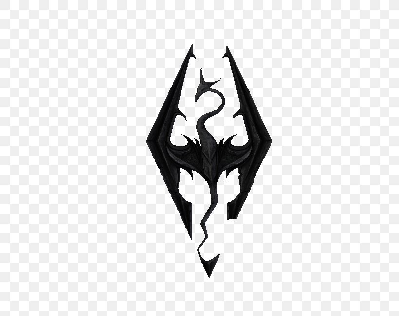 The Elder Scrolls V: Skyrim Logo Decal Video Game Mod, PNG, 750x650px, Elder Scrolls V Skyrim, Bethesda Softworks, Black, Black And White, Decal Download Free