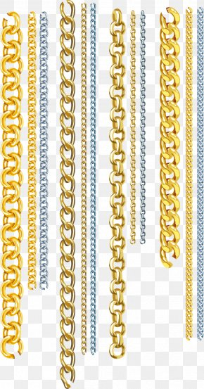 Vector Chains - Gold Euclidean Vector Chain PNG