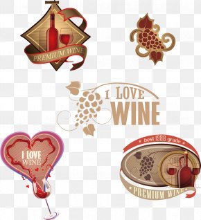Promotional Wine Label - Red Wine Wine Label PNG