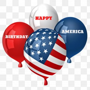 Celebrate Memorial Day Honor - Red White & Blue Balloons Flag Of The United States EXTENDED 4TH OF JULY WEEKEND Balloon Arch PNG
