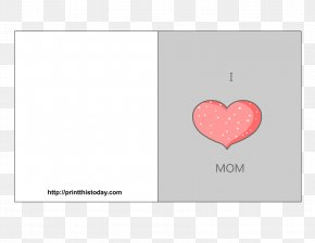 HAPPY MOTHERS DAY - Heart Rectangle Pattern PNG