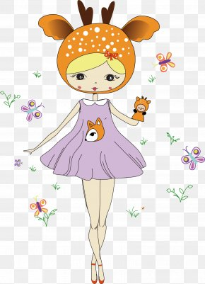 Vector Fairy Tale Princess - Cartoon Drawing Fairy Tale Illustration PNG