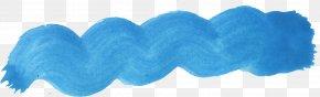 Brush Stroke - Blue Aqua Turquoise Azure Teal PNG