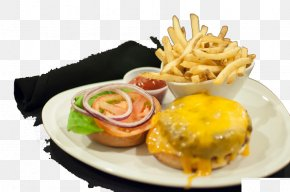 French Fries Barbecue Meal - Hamburger French Fries Cheeseburger Fast Food Breakfast PNG