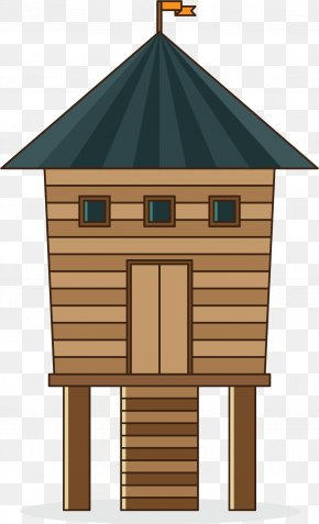 Cartoon Forest Cottage - House Euclidean Vector Illustration PNG